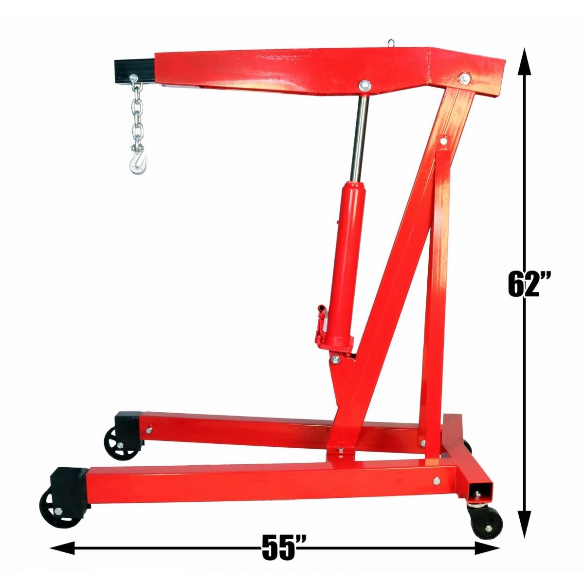 3 Ton (6000 LB) Engine Hoist Cherry Picker Shop Crane