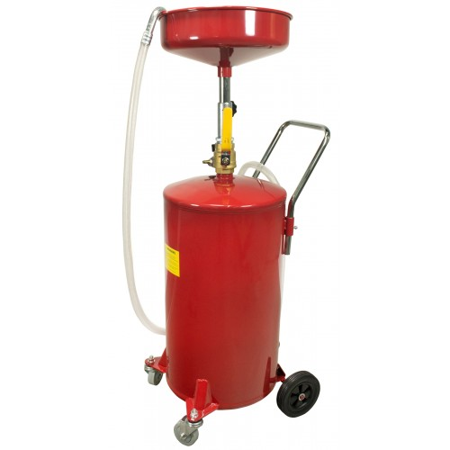 18 gallon oil waste drain tank pan auto garage lift for Used motor oil disposal walmart