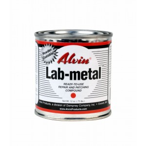 Alvin 12 oz Lab Metal Durable Economical Repair Putty, Dent Filler & Patching Compound Epoxy