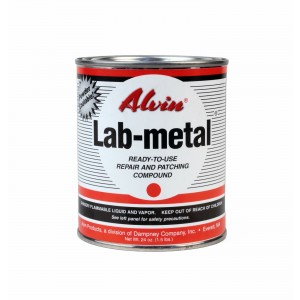 Alvin 24 oz Lab Metal Durable Economical Repair Putty, Dent Filler & Patching Compound Epoxy