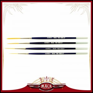 Andrew Mack Series 444VII The Virus II Scrolling Script Pinstriping Brush With Soft Golden Synthetic Hair Size 0 - 4