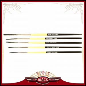 Andrew Mack Series 840 Synthetic Squirrel Soft Haired Outliner Pinstriper Brush Size 4/0 - 4