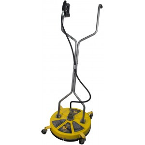 "BE Pressure 20"" Whirl-A-Way Fiberglass 4000 PSI Flat Surface Cleaner with Castors"
