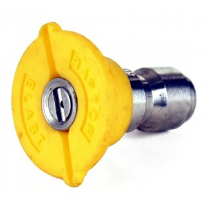 "Raptor Blast 1/4"" Stainless Steel Quick Connect 15 Degree Nozzle"