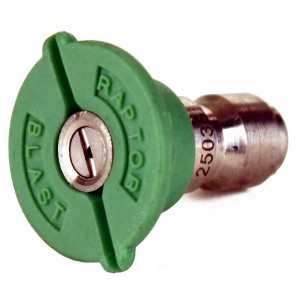 "Raptor Blast 1/4"" Stainless Steel Quick Connect 25 Degree Nozzle"