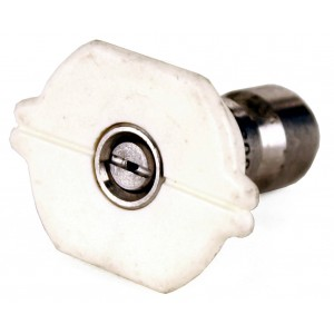 """Raptor Blast 1/4"""" Stainless Steel Quick Connect 40 Degree Nozzle"""