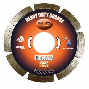 Diamond Products Small Diameter Segmented Dry Heavy Duty Orange Cutting Blades - Very High Quality & Cutting Value
