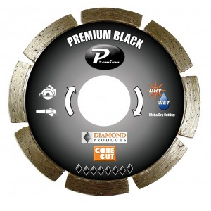 Diamond Products Small Diameter Segmented Dry Premium Black Cutting Blades - Highest Quality & Longest Cutting Life