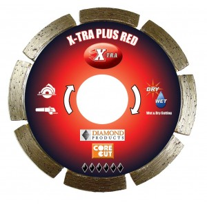 Diamond Products Small Diameter Segmented Dry X-tra Plus Red Cutting Blades - Higher Quality & Cutting Value