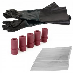 Dragway Tools Model 260 Sandblast Cabinet Kit with Gloves, Window Films, Nozzles, Filter