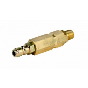 "Erie Tools® Brass Pressure Washer Turbo Nozzle Filter with 1/4"" Inlet x 1/4"" Plug"