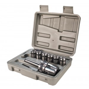 Erie Tools 6 Piece Chuck Set Includes Chuck, Six Collets, Spanner Wrench for Mini Mill Machine
