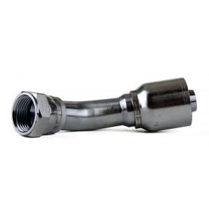 "Erie Tools JIC 37° Female Swivel 45° Hydraulic Hose Fitting - 1/4"" - 1"""