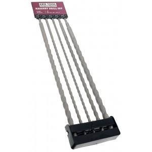 "Erie Tools® 5 Piece 24"" SDS Masonry Drill Bit Set"