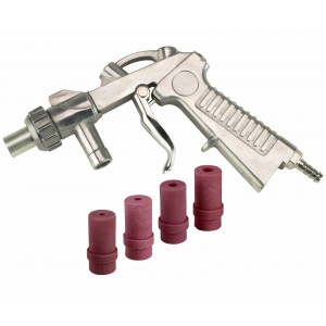 Dragway Tools Gun & Nozzles Kit for Model 25, 60 and 90 Sandblast Cabinets