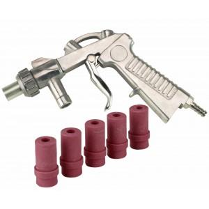 Dragway Tools Blast Media Gun & (5) 7MM Nozzles for 25 60 90 Sandblast Cabinet