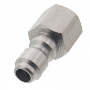 "Erie Tools 1/4"" FPT Female Stainless Steel Plug Quick Connect Coupler"