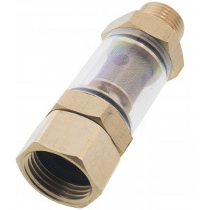"""Erie Tools Clear Inlet Pressure Washer Water Sediment Filter 1/2"""" NPT x 3/4"""""""