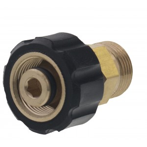Erie Tools® Pressure Washer Twist Connect M22M X M22F Solid Brass Adapter