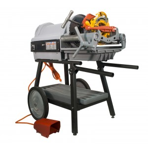 RIDGID® (Reconditioned) 1224 220V Pipe Threading Machine Die Heads and Cart