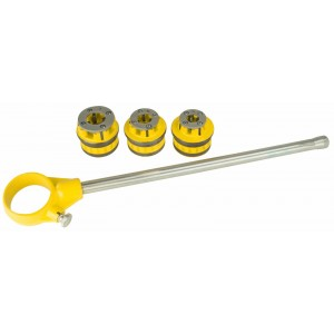 "Steel Dragon Tools® 1/2"", 3/4"", 1"" Ratchet 12R Pipe Threading  Kit"