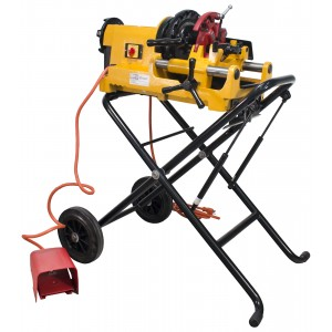 Steel Dragon Tools 300 Compact Pipe Threading Machine and Cart