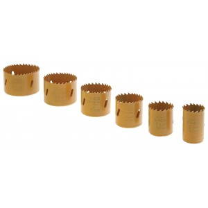"Steel Dragon Tools® 7 Piece Hole Saw Kit 1-1/4"" to 2-11/16"""