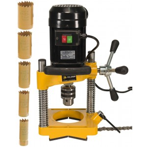 """Steel Dragon Tools® JK114 Pipe Hole Cutter with 6 Piece Cutter Set up to 1-1/4"""""""