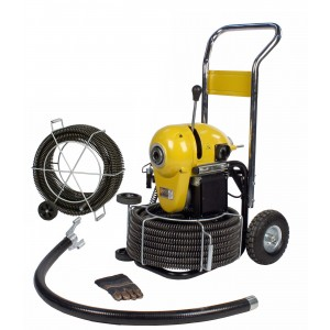 Steel Dragon Tools® K1500A Drain Cleaning Machine and 120' Cable