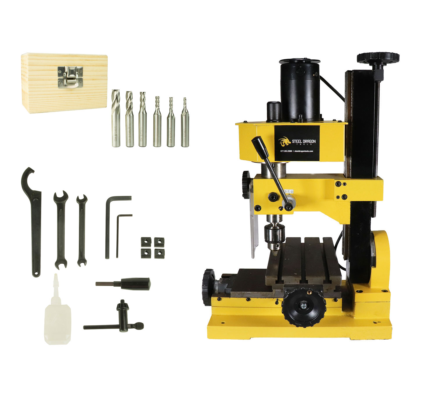 Milling Machine For Sale >> Details About Erie Tools Mini Bench Top Mill Drilling Machine Gear Driven Adjustable Stop