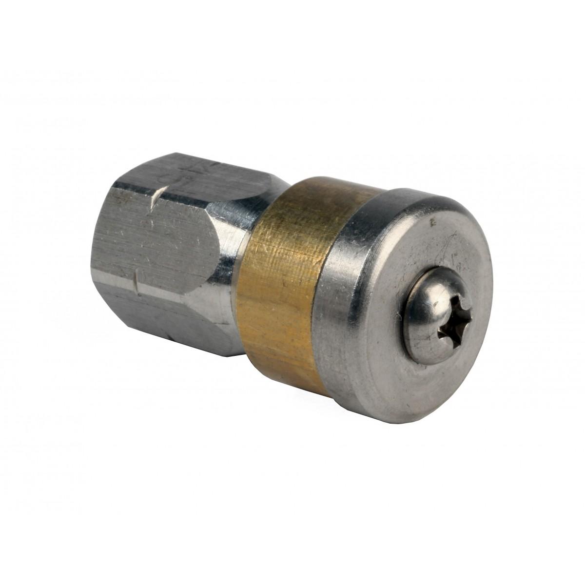 "MTM Hydro 1//4/"" Button Nose Laser Fixed Sewer Hydro Jetter Nozzle 5.5 Orifice"