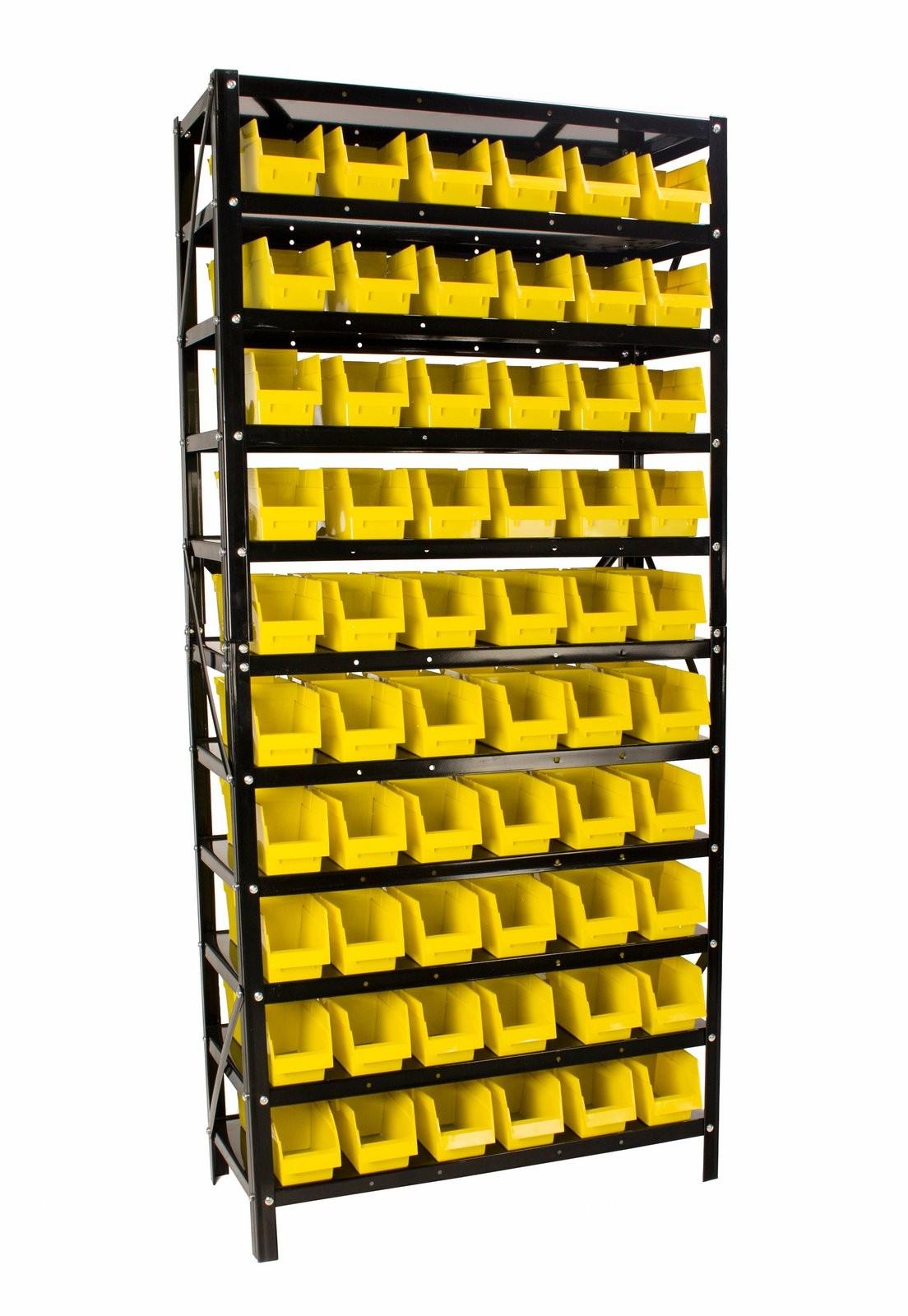 Erie Tools 60 Bin Parts Rack Storage Organizer