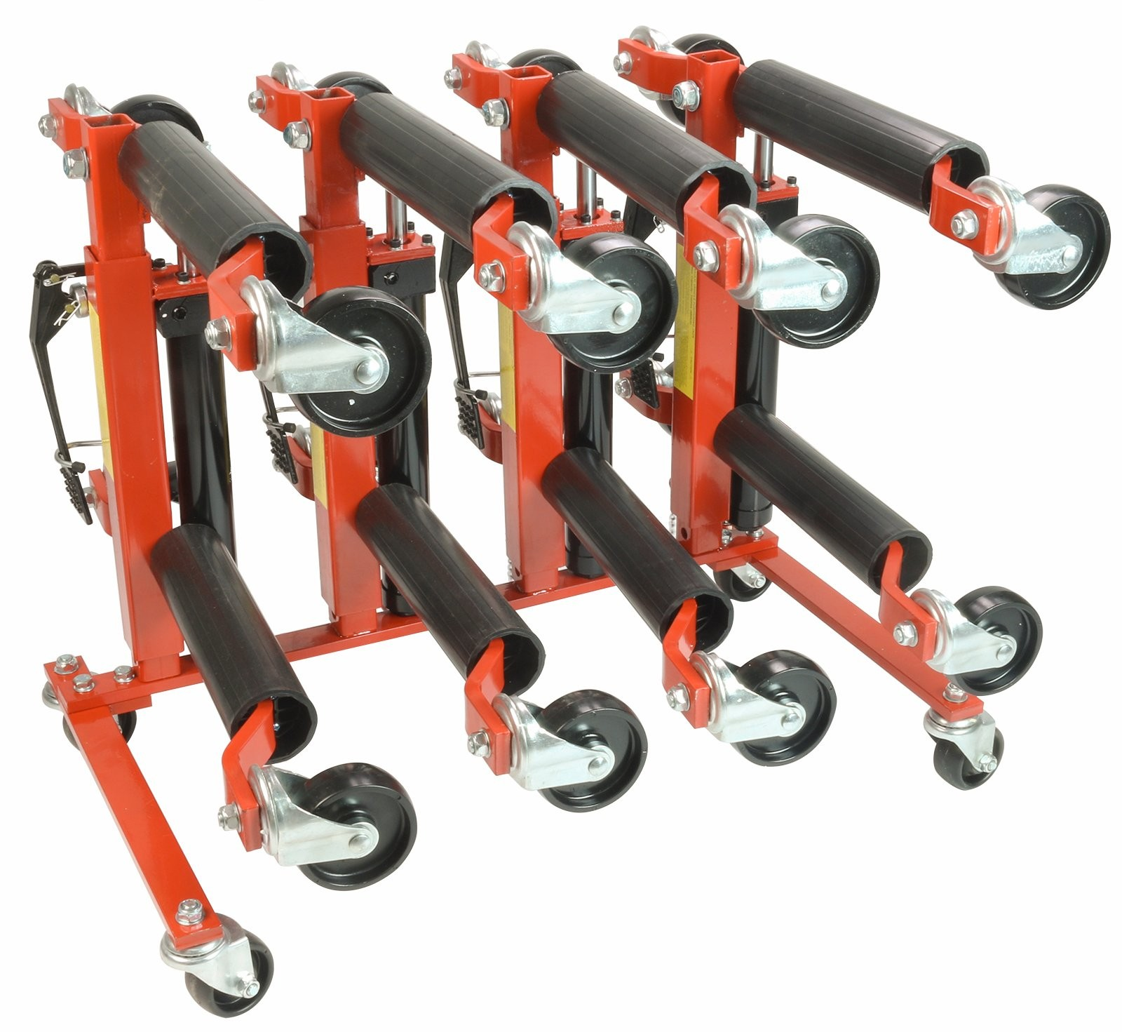 (4) Dragway Tools 12in. Vehicle Positioning Jack with Stand