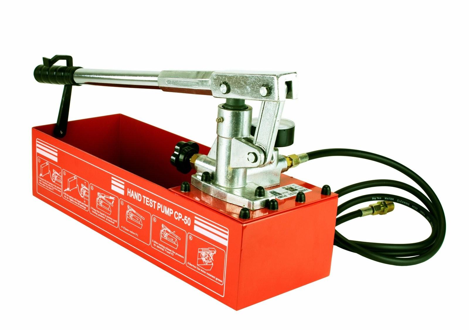 Steel Dragon Tools® CP-50 Pressure Test Pump 726 PSI & 2.5 Gallon Tank