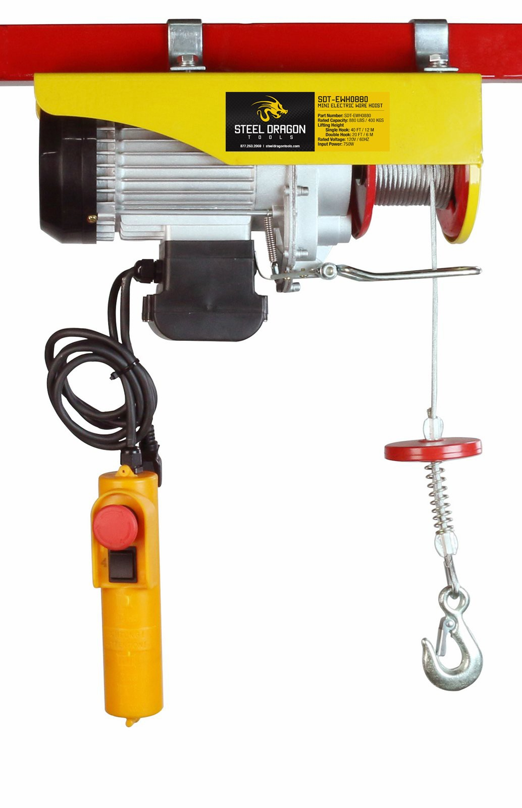 Steel Dragon Tools® 880 LBS Mini Electric Wire Cable Hoist