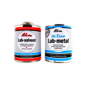 Alvin 24 oz Hi Temp Lab Metal Repair Compound and 16 oz Hi Temp Lab Solvent
