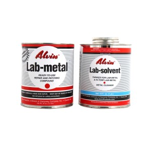 Alvin 24 oz Lab Metal & 16 oz Lab Solvent Dent Filler & Patching Compound Epoxy