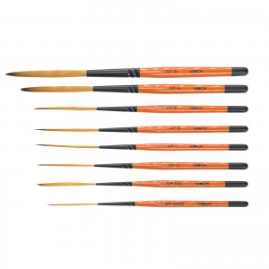 Andrew Mack Drag'n Fly By Ted Turner 8 Brush Set Series DF Sizes 0000-5