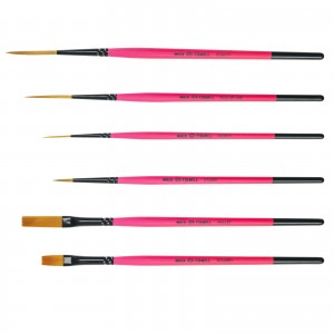 Andrew Mack/Jeral Tidwell Broken Pinkies 6 Brush Set With Synthetic Bristles
