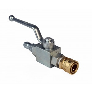 Raptor Blast 3/8in. Ball Valve with Couplers fits all Surface Cleaners