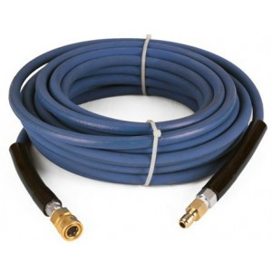 Raptor Blast 6000 PSI BLUE 2 Wire Braid NON Marking Pressure Washer Hose 50' w/ Couplers