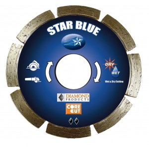 Diamond Products Small Diameter Segmented Dry Star Blue Cutting  Blades - Good Quality & Cutting Value