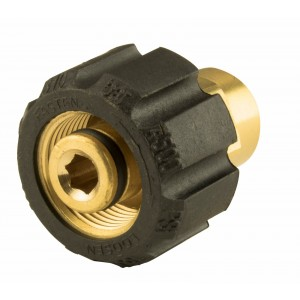 """Erie Tools Brass Twist Coupler Adapter 1/4"""" FNPT x 22mm for Pressure Washers"""