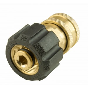 """Erie Tools Pressure Washer Twist Connect M22 X 3/8"""" Quick Disconnect Brass Fitting"""