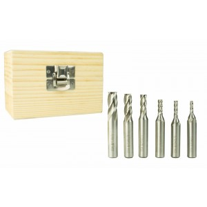 "Erie Tools 3/8"" Steel End Mill Kit 4 Flute 1/8"" 3/16"" 5/32"" 1/4"" 5/16"" 3/8"""