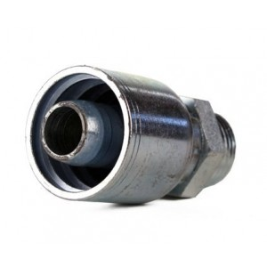 """Erie Tools Straight Thread (ORB) Male Boss O-Ring Hydraulic Hose Fitting, 1/4"""" - 1"""""""