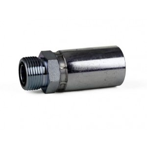 """Erie Tools O-Ring Face Seal Male Rigid Hydraulic Hose Fitting, 3/8"""" - 5/8"""""""