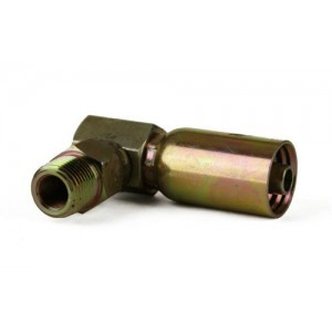 """Erie Tools NPTF Male Pipe Swivel 90° Hydraulic Hose Fitting, 1/4"""" - 3/8"""""""