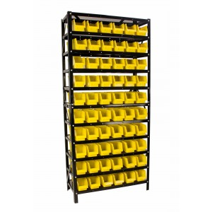 Erie Tools 60 Bin Parts Rack Storage Organizer
