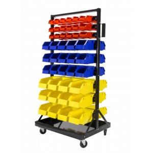 Erie Tools 90 Bin Parts Rack Storage Organizer